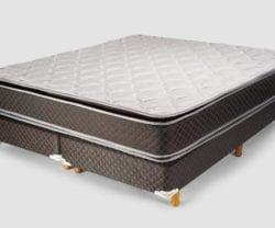 Colchon y Sommier - Cannon - 200x200 - Modelo Exclusive con Pillow - Espuma alta densidad